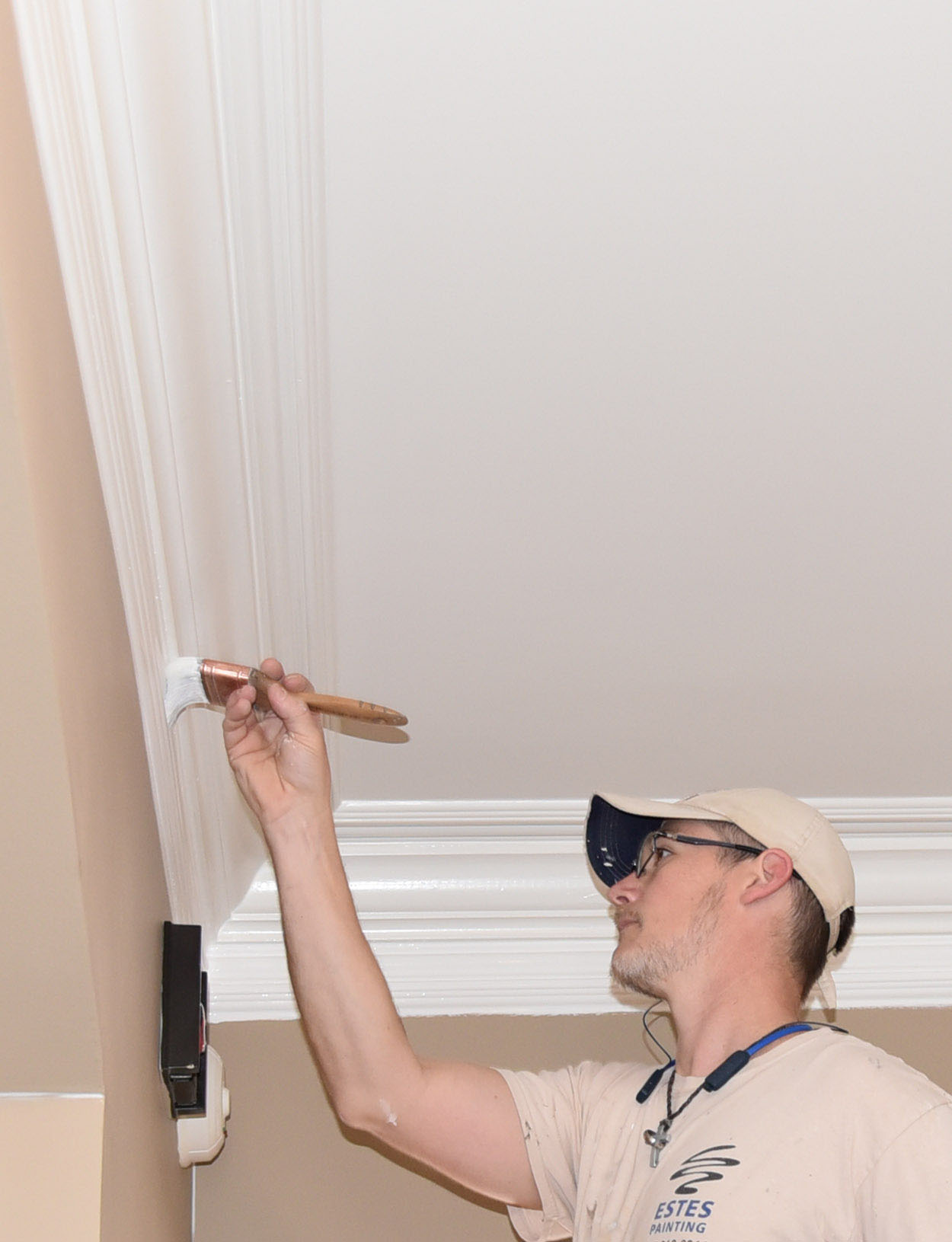 crown molding painting